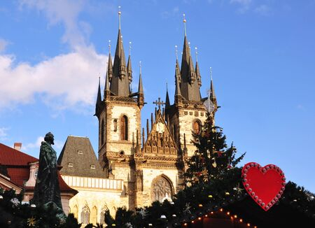 Christmas in Prague and the Christmas market on the square photo