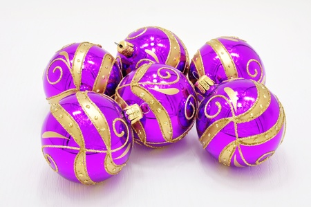 Beautiful colorful Christmas ornaments with gold accents Stock Photo - 14666696