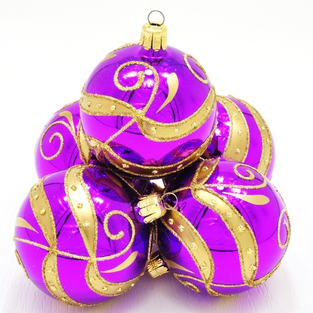 Beautiful colorful Christmas ornaments with gold accents Stock Photo - 14666688