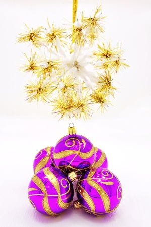 Beautiful colorful Christmas ornaments with gold accents Stock Photo - 14666695