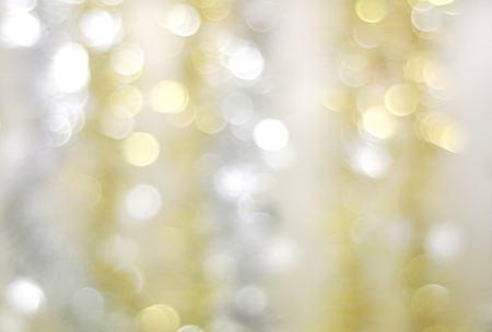 Abstract Christmas background of silver and gold chain Stock Photo - 14666687