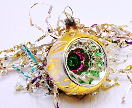 Beautiful colorful Christmas ornament with gold accents Stock Photo - 14666689