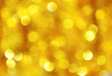 Abstract Christmas background of gold chain photo