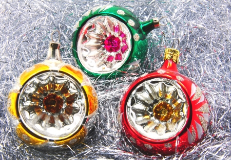 Beautiful colorful Christmas ornament with silver accents Stock Photo - 14805981