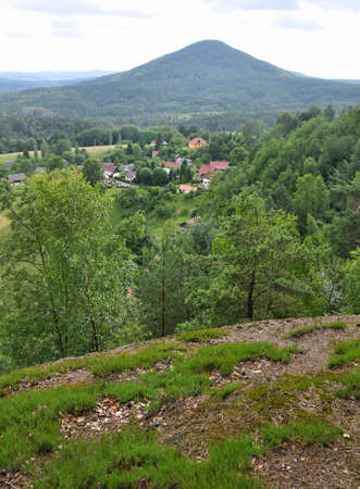 czech switzerland: La collina Ruzovsky vrch nella bellissima Svizzera Ceca