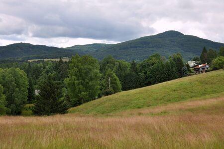 czech switzerland: La collina Studenec nella bella Svizzera Ceca