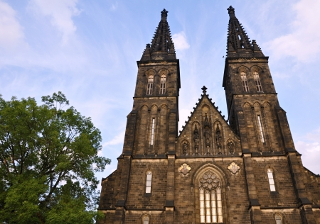 Vysehrad - a historic church in the beautiful city of Prague