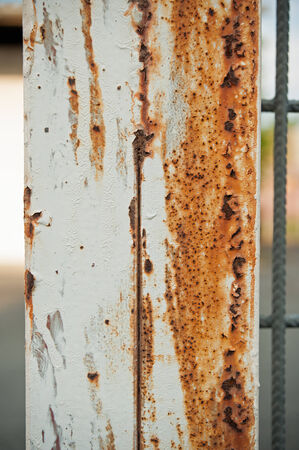 Small detail of rusty piece of steel column
