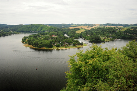bohemia: The prospect of the river Vltava in the Czech Republic Stock Photo