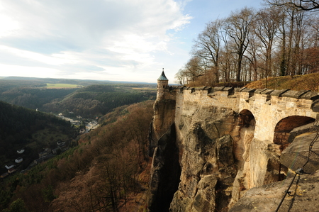 View from Koenigstein Fortress on the surrounding Saxon Switzerland