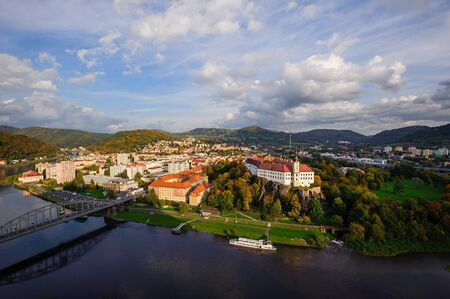 View of the beautiful city of D???n in Northern Bohemia Reklamní fotografie