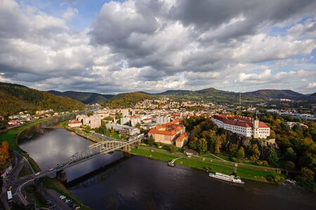 View of the beautiful city of D���n in northern Bohemia