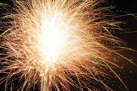 Rocket explosions of beautiful New Year's fireworks Reklamní fotografie