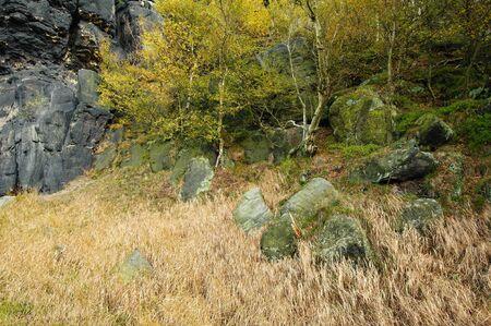 Autumn landscape - rocks, forests - all beautifully colored Reklamní fotografie