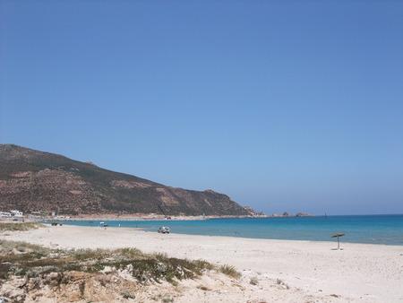 tunisia: Beach in Tunisia Stock Photo