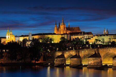 Prague Castle Gothic Style And Charles Bridge Are The Symbols