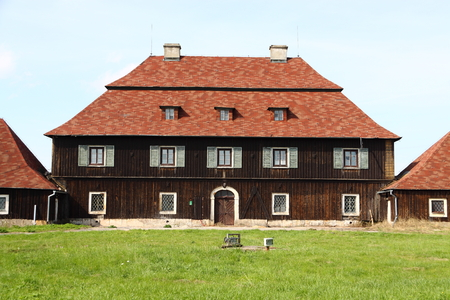 main building of the small chateau wainscot
