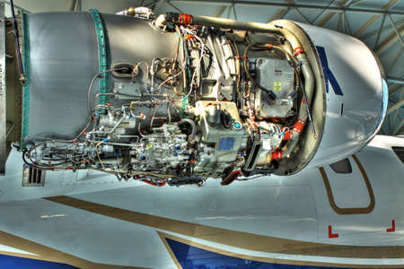 hight tech: Uncovered left engine of small business jet