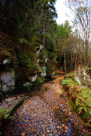 trough: Almost empty trough of the mill race