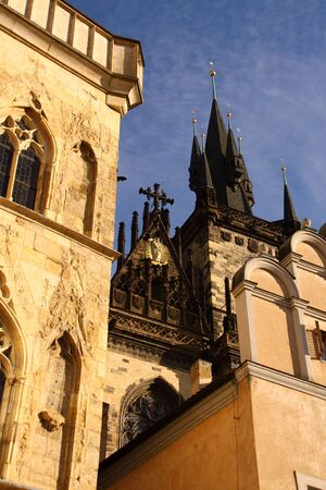 fragments: Architecture fragments of Prague old town