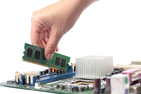 mainboard: Computer mainboard hardware and installation memory