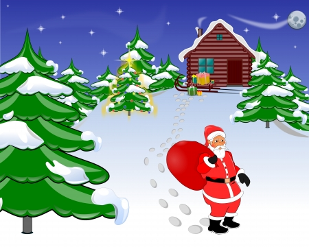 Santa Claus and gifts photo