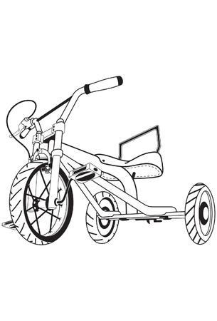 driewieler: Een illustratie van driewieler