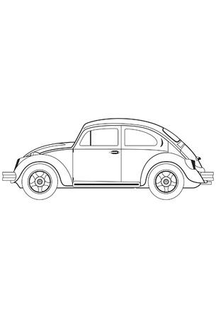 Bettle auto Vector Illustratie
