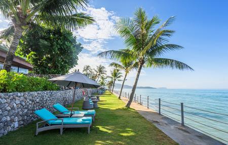 southsea: tropical beach on the sun, the Beautiful beach seascape  in thailand