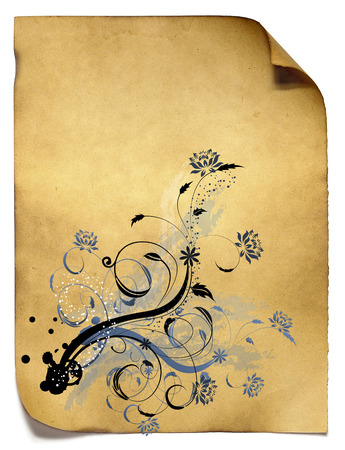 old paper with florishes