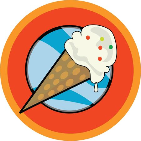yummy icecream icon , can be used as either a logo or an icon . Stock Photo