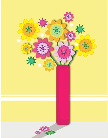 cute flower bouquet perfect for a greeting card or an occasion