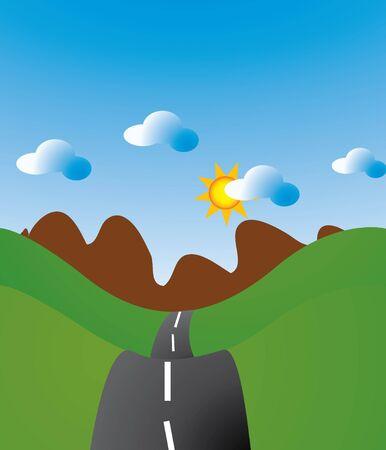 Bochtige weg reizen lang verloren te plaatsen