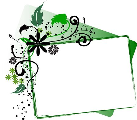 green boxed interface has place for text  Stock Photo