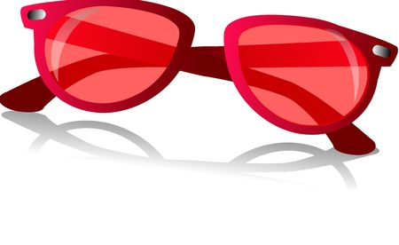 red shades on isolated background an accessory added to similar items in the collection