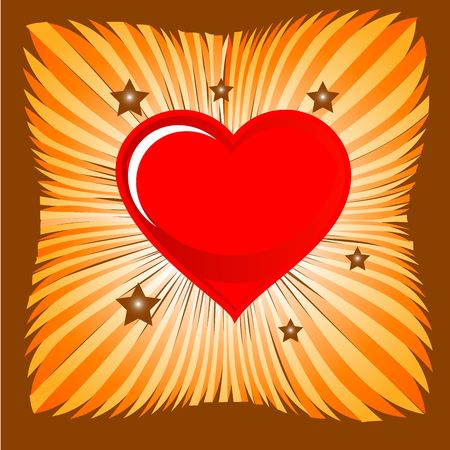 heart on a sunburst background little bit with a twist