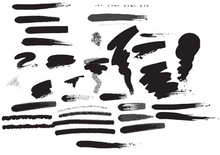 its a set of different strokes of the brushes Stock Vector - 3836028