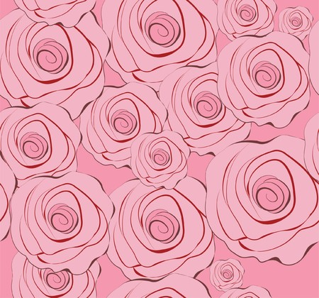 seemless pattern background with pink flowers for fabric Stock Photo - 4106923