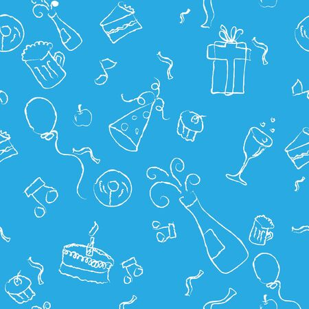 seamless pattern of a party decorative line art on a  background Stock Photo - 4106920