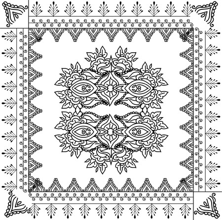 beautiful hand drawn vector pattern design good for textile, jewellary, henna and decorations. to see more patterns and floral designs. visit my portfolio. Stock Photo - 4552644