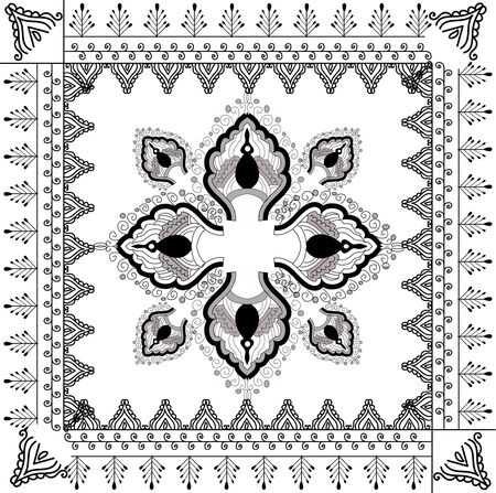 beautiful hand drawn vector pattern design good for textile, jewellary, henna and decorations. to see more patterns and floral designs. visit my portfolio. Stock Photo - 4552642