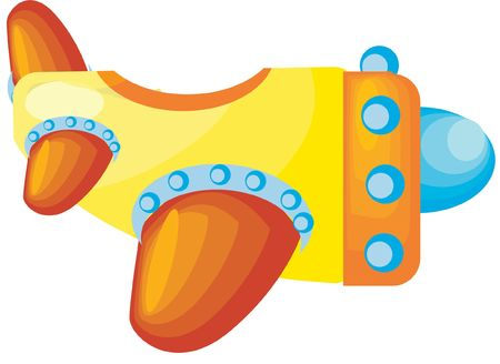 a beautiful colored vector illustrated toy airplane