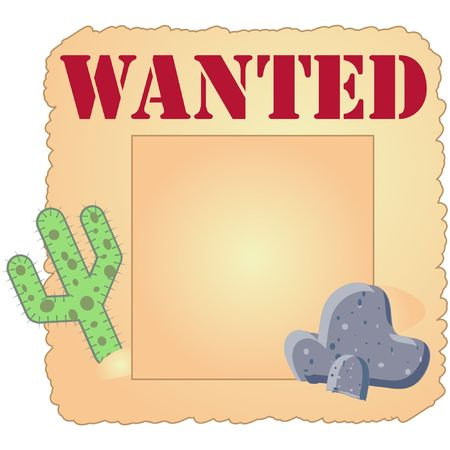 old paper vector illustrated design poster for wanted