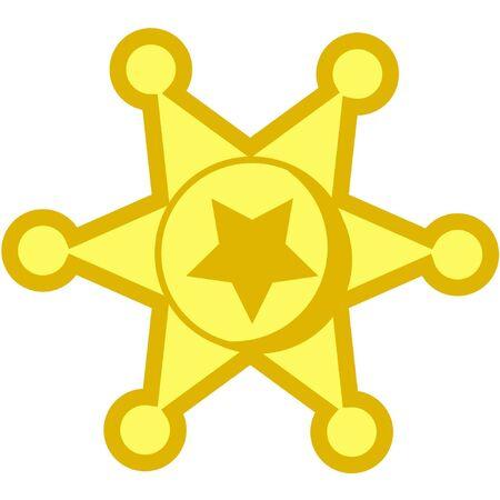 a vector illustration of a cowboy metal star badge Stock Illustration - 5622702
