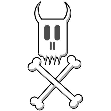 a vector illustration of a danger sign