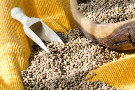 groat: Buckwheat groats in a bowl Stock Photo