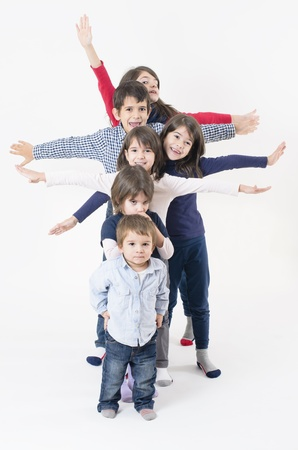 Six siblings from a large family