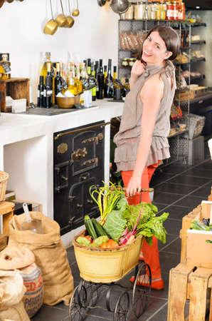 fibber: Beautiful woman in a rustic store