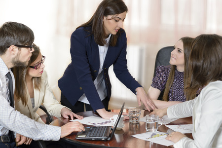 Business people working as a team at the office Banque d'images
