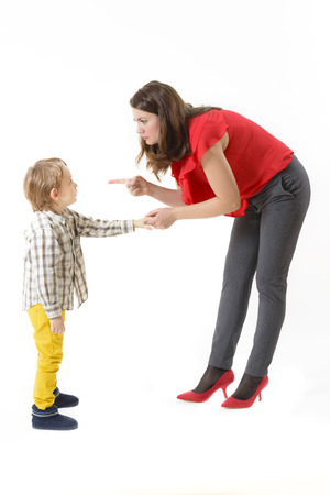 naughty woman: Mother disciplining her child